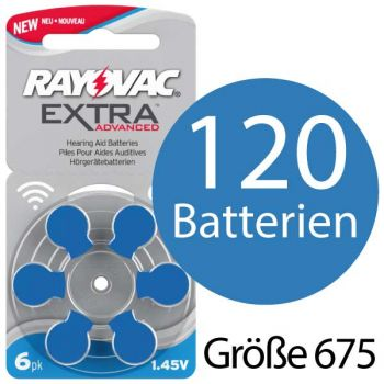 Rayovac Extra Advanced H675MF Hoergeraetebatterie