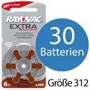 30 x Rayovac Extra Advanced H312MF