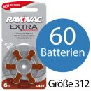 60 x Rayovac Extra Advanced H312MF